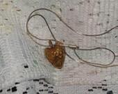 Bronze Peach Pit Heart
