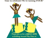 Monkeys Jumping on the Bed Printable Party pdf - twin, sibling birthday