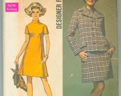 Simplicity 8501 Vintage Sewing Pattern 1960s Madmen Jacket and Dress Bust 40 Inches UNCUT