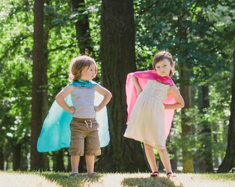 Childrens Single sided Super Hero Cape You choose the colors-Perfect birthday gift or party gift - Fast Shipping