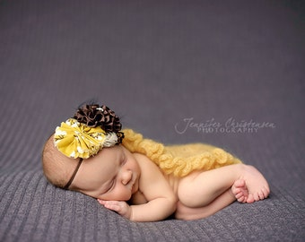 Pinecones with Lace- brown, mustard and taupe headband M2M Persnickety