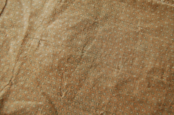 ANTIQUE Primitive Overdyed GREEN Calico FABRIC -True old 1800's Farmhouse Fabric