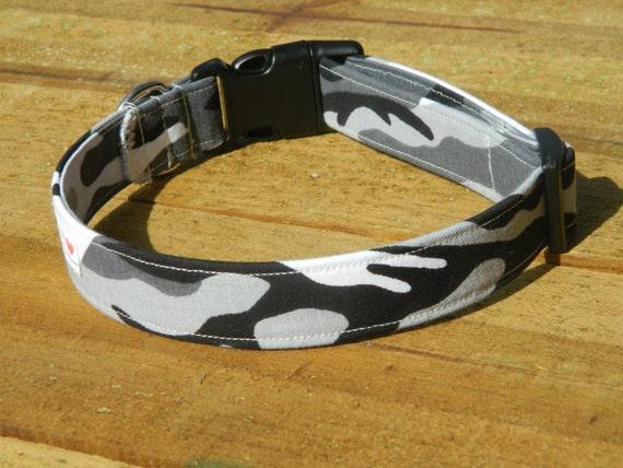 M- Winter Camo Dog Collar