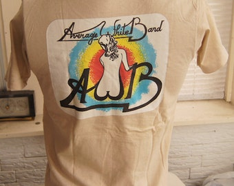 vintage (t shirt) AVERAGE WHiTE BAND 70s concert tour BVD Medium (38 inches around chest)