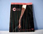 Thigh High Stockings Vintage 1960s Nylon Stockings Beige Dress Sheer Self Seam Garter Hose Cameo Burlington Hosiery Lingerie 9 / Medium