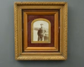 Antique French Framed Photo - Framed picture - Wall Art - French Fisherman Photograph - Antique French Photograph
