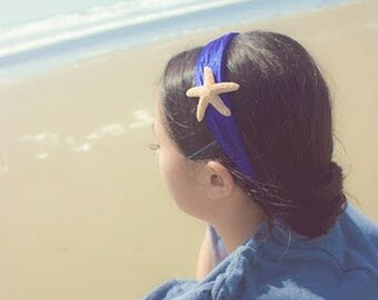 50% OFF SALE Starfish Headband Mermaid Costume Headpiece Hairpiece Bridal Hair Head Piece Ocean Blue Nautical Beach Wedding Accessories Gift
