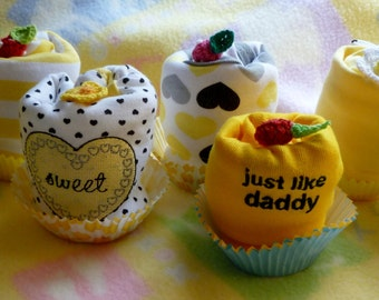 Bee My Baby..Bee Baby Shower...Baby Bee Gift..Bee Onesie Cupcake..Buzzing for Baby..Sweet Baby Bee...Mommy to Bee Baby Shower :)