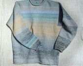 Knit Sweater for XL Men - Chinook Salmon Cotton Tape and Kid Mohair Sweater