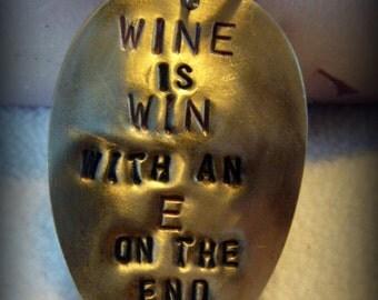 Wine Upcycled Vintage Spoon Charm