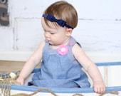Navy Bow Headband. Navy Baby Headband. Navy Headband. Baby Hair Accessories. Girls Hair Accessories. Baby Girls Hair Accessories. Navy Blue