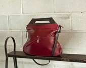 Oxblood red leather purse, clutch - the Rimanchik Melody bag