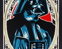 Au pochoir darth vader print - Pochoir star wars ...