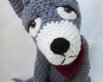 Crochet Pattern Wolf by Teri Crews instant download PDF format Crochet Toy Pattern