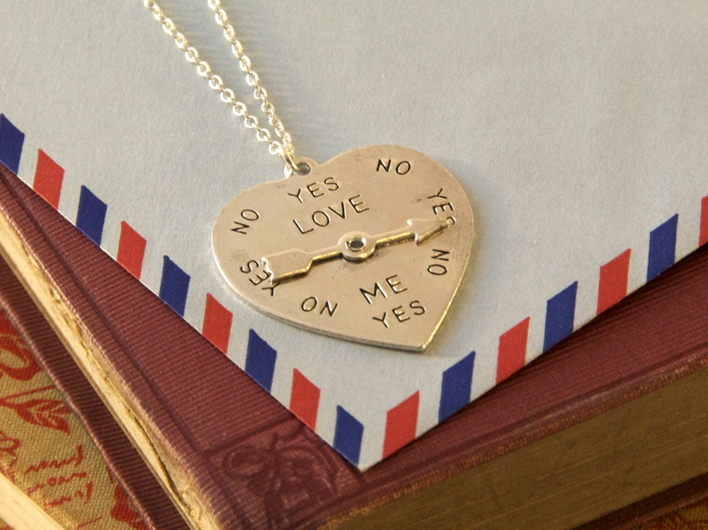 Heart Shaped Decision Maker Necklace Love Spinner