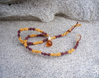 Bee Sweet Honey Necklace 1-D (hemp)