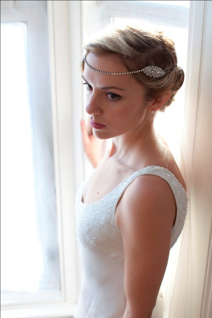 Etsy Chain Headpiece Chain Bridal Headpiece