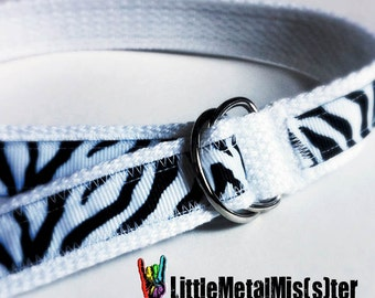Adjustable Toddler Belt with white and black Zebra print pattern for Punk Rock Little Girl