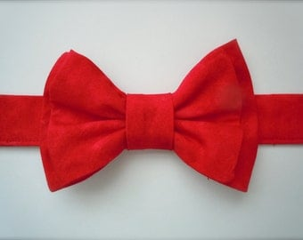 Red Bow Tie for Dog or Cat - Any Size