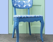 Vintage Chair Mid Century Upcycled Furniture In French Blue