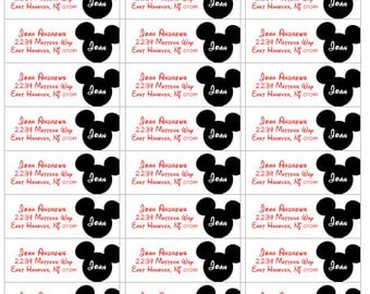 mickey mouse labels, address return labels personalized, mickey mouse return labels, personalized address labels, return mickey mouse labels