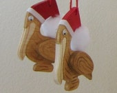2 Pelican Wooden Christmas