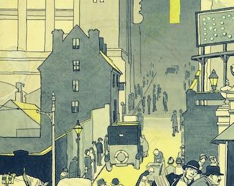 Birmingham UK In 1920s A4 Art Deco Print