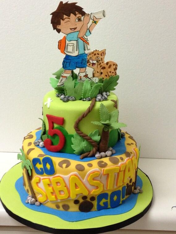 Go Diego Go Cake Topper