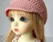 "Custom BJD Crochet Pageboy Cap Hat  for 6/7"" head MSD YoSD - your choice of colour."