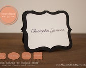 Luxe Wedding Escort Cards / Place Cards / Table Cards / Name Cards - Name Printing Included, Folded, Quantity Discounts