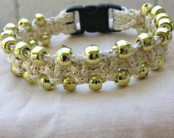 Dazzle Macrame Bracelet (Gold)