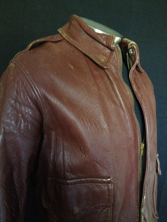2 flight jacket leather vintage war world