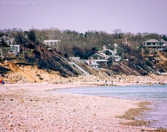 MANOMET BLUFFS, COASTAL Photography, Plymouth Massachusetts New England Travel Art, Atlantic Ocean, Beach Cottage Decor, Landscape Nature