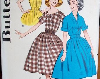 Vintage BUTTERICK PATTERN, 1950's Era Dress Pattern, Size 16, Bust 36, Pattern No.9261