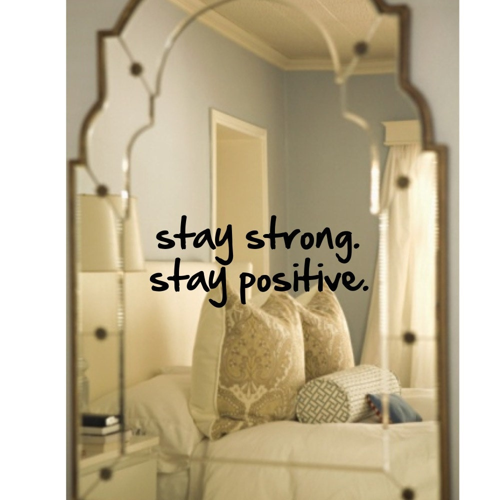 Wall decal mirror decal stay strong stay positive for Mirror stickers