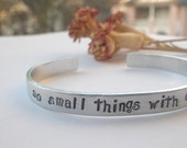 Do small things with Great Love Handstamped Bracelet. Wear Your Inspiration.  Mother Teresa Quote. - HoneysuckleRoad