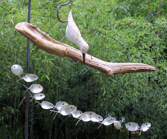 Sand piper spoon fish wind chimes number 34 fun by nevastarr for Fish wind chimes