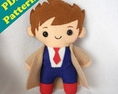"PDF PATTERN - 9"" Human Plush David Tennant/Castiel (Digital Download)"