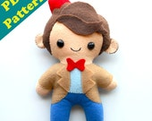 "PDF PATTERN - 9"" Human Plush Matt Smith 11th Doctor (Digital Download)"