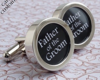 Father of the Groom Wedding Gift Cufflinks Personalized Wedding Gift for Men