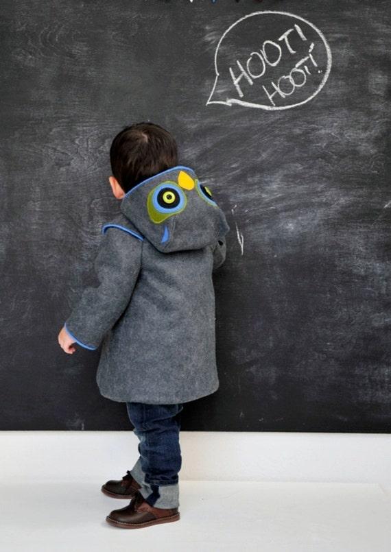 Little Grey Owl Boys Coat