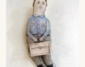 DAD art doll original fabric man gift textile