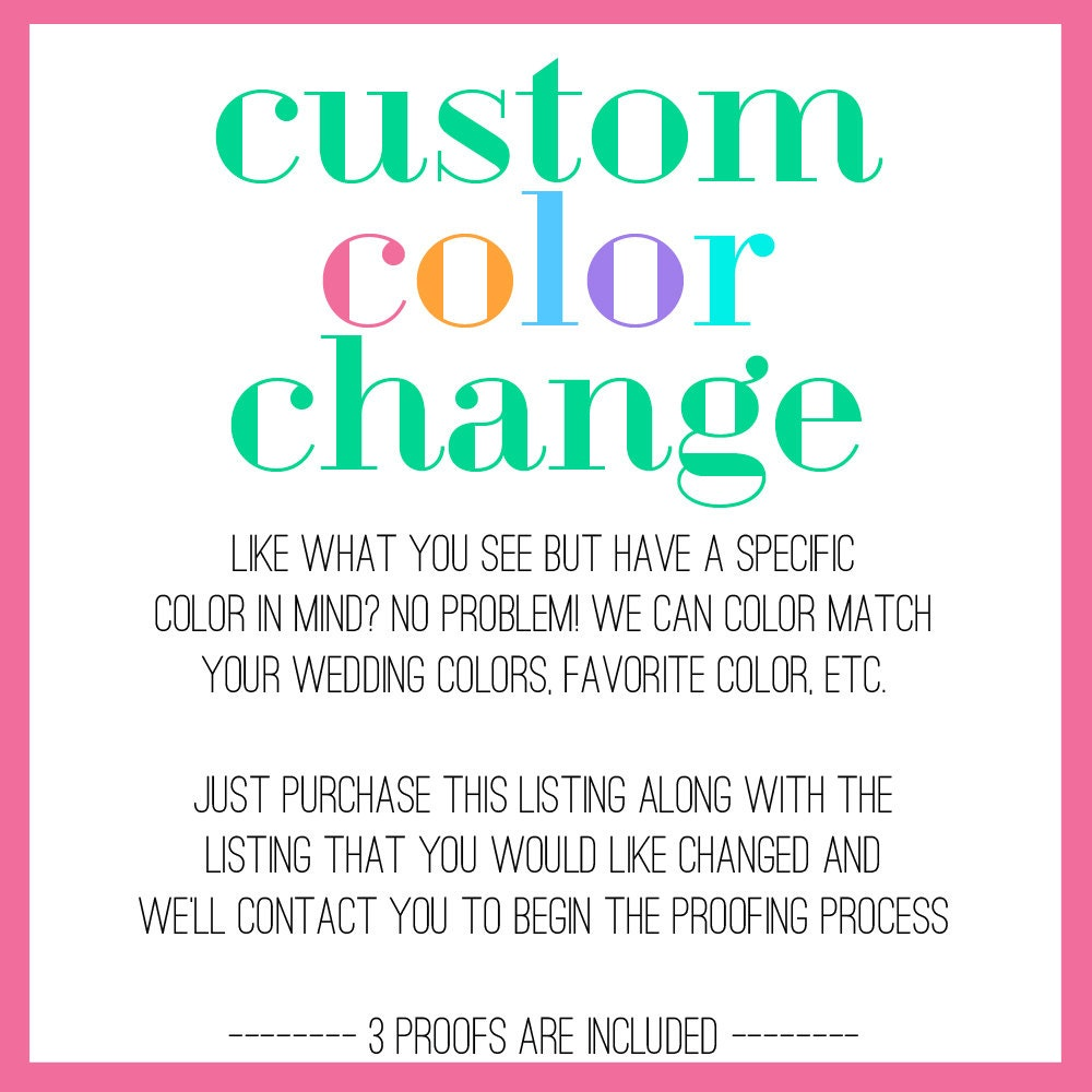Custom Color Change Fee Change The Color Of Your Card To