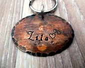 "1.5"" Weathered Beauty -Oval Pet ID Tag -Custmizable/Personalize your tag"