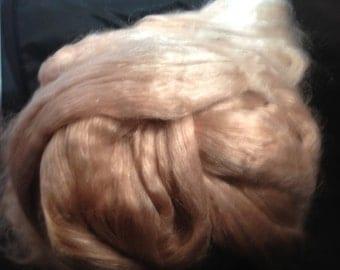 1oz Baby Camel Silk Fiber Biege Luxury Spinning Fiber 50/50 Blend.