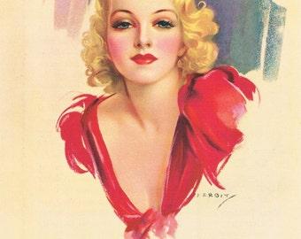 Golden Girl J. Erbit Calendar Art Print
