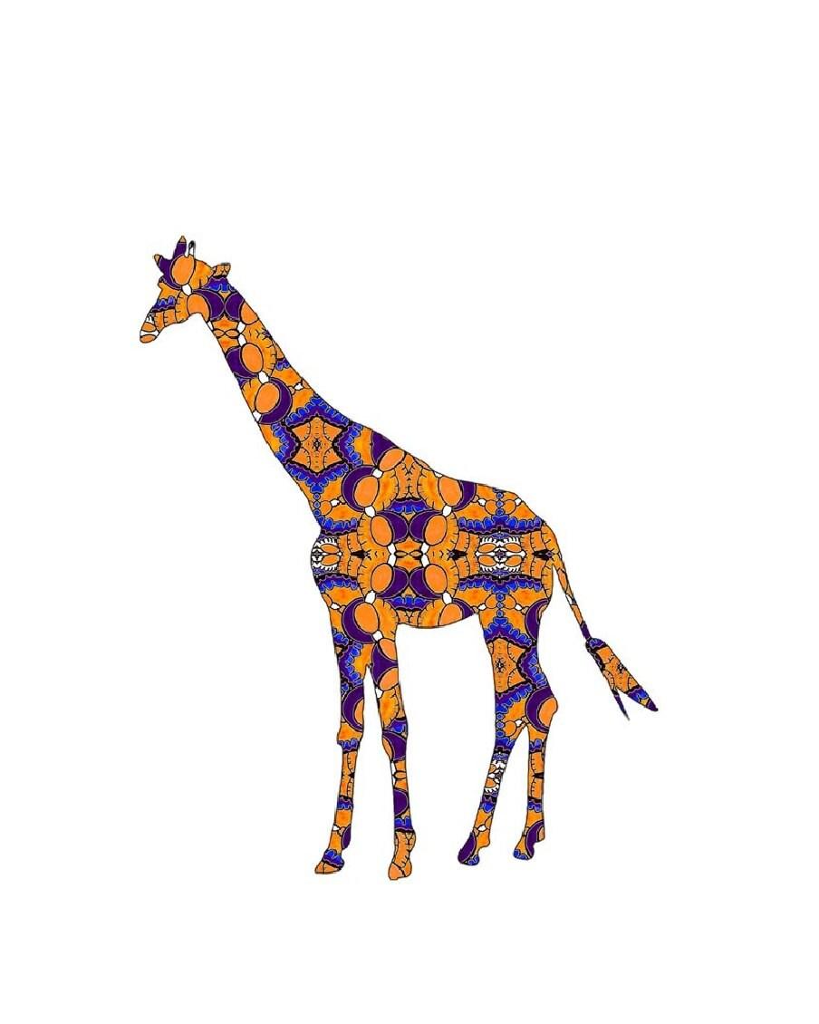 Colorful Giraffe Paintings Giraffe Art Giraffe Painting