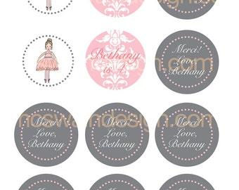 Sweet Ballerina Printable Party Circles - PDF