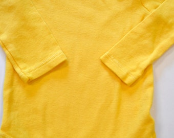 Golden Yellow Onesie, Hand Dyed, Baby, Toddler, Bodysuit, DIY Minion, Pikachu, Charlie Brown, Founder, Halloween Costume Base, Long Sleeve