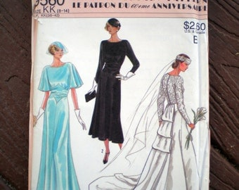 Simplicity 9560 1920s Repro Vintage Gown Wedding Dress Sewing Pattern Bust 31.5 to 36 Inch Bust Gatsby